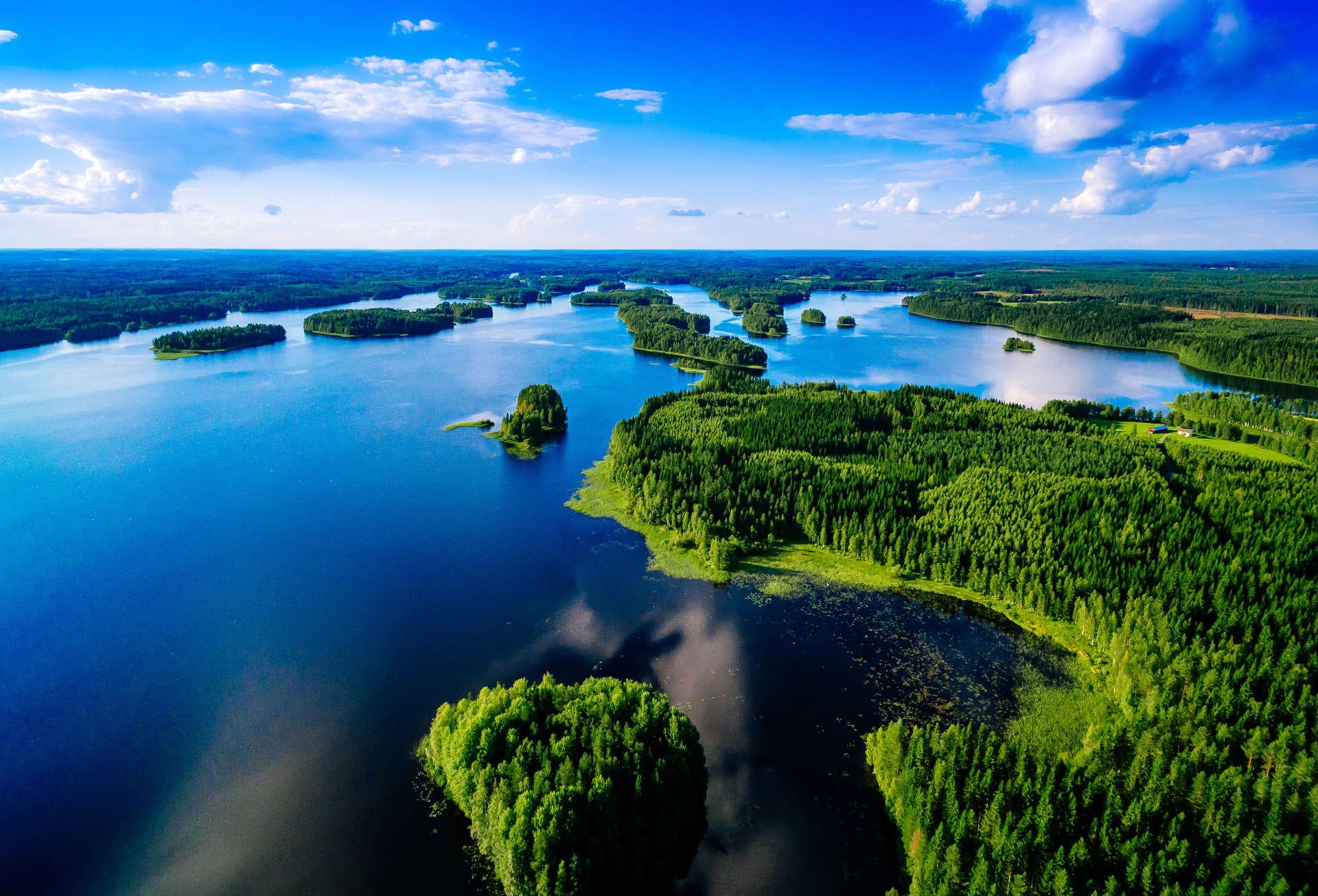 Scanforest forêt ciel lac
